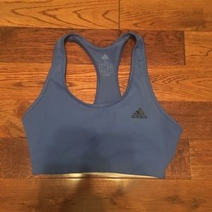 Adidas women's small navy blue sports bra.